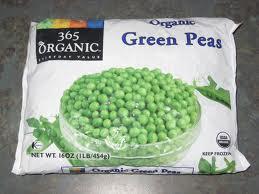 fozen peas
